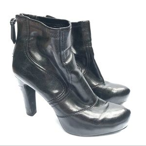Franco Sarto Black Learn Heeled Booties 9.5